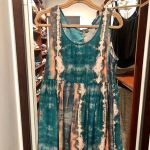 Ecote Tye-Dye Dress/ Size Large